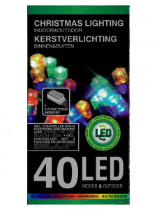 Lampki choinkowe 40 LED MULTIKOLOR MIX 8 efektów