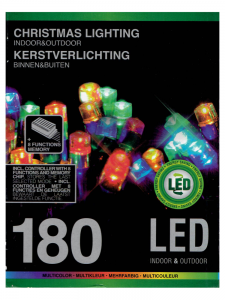 Lampki choinkowe 180 LED MULTIKOLOR MIX  8 efektów