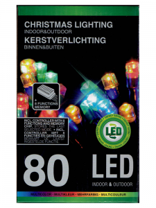 Lampki choinkowe 80 LED MULTIKOLOR MIX 8 efektów