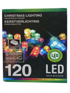 Lampki choinkowe 120 LED MULTIKOLOR MIX 8 efektów