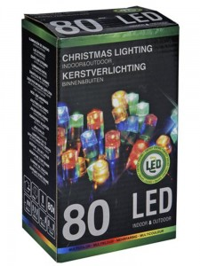 Lampki choinkowe 80 LED multikolor